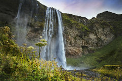 Seljalandsfoss - famous waterfall in southern Iceland Royalty Free Stock Photo
