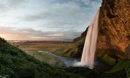 Seljalandsfoss. The great waterfall in iceland royalty free stock images