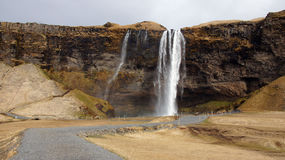 Seljalandsfoss in Iceland Stock Images