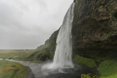 Seljalandsfoss Iceland siklawa Fotografia Stock