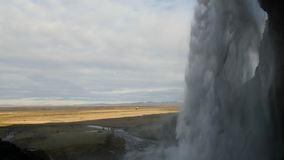 Seljalandsfoss in IJsland 4K stock video