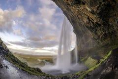 Seljalandsfoss jest jeden piękne siklawy na Ic Obrazy Royalty Free