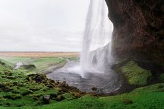 Seljalandsfoss - picturesque and majestic waterfall, Iceland Royalty Free Stock Image