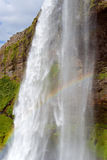 Seljalandsfoss vattenfall Arkivbild