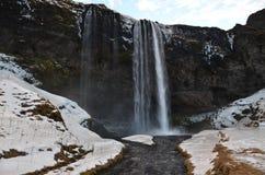 Seljalandsfoss vattenfall Arkivfoto