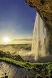 Seljalandsfoss vattenfall i södra Island arkivfoton