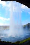 Seljalandsfoss vattenfall Island Arkivfoto