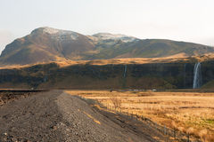 Seljalandsfoss Wasserfall in Island Lizenzfreies Stockfoto