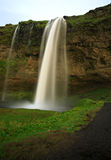 Seljalandsfoss waterfall. Taken during the day Iceland Royalty Free Stock Image