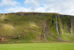 Seljalandsfoss waterfall Royalty Free Stock Photo