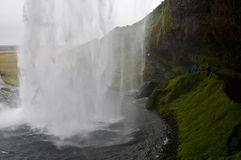 Seljalandsfoss waterfall. The Seljalandsfoss is a beautiful waterfall in the south of iceland Royalty Free Stock Images