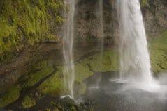 Seljalandsfoss waterfall close up. Seljalandsfoss waterfall taken during the day Iceland Royalty Free Stock Image