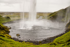 Seljalandsfoss waterfall - Iceland Stock Image