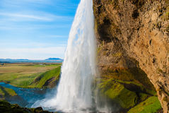 Seljalandsfoss, waterfall in Iceland Royalty Free Stock Photo