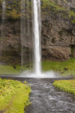 Seljalandsfoss waterfall - Iceland. Stock Images