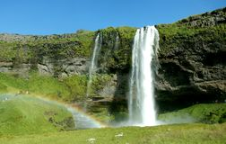 The Seljalandsfoss waterfall royalty free stock photography