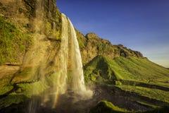 Seljalandsfoss Waterfall in Iceland Stock Image