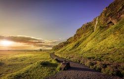 Seljalandsfoss Waterfall in Iceland Royalty Free Stock Photo
