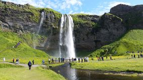 Seljalandsfoss Waterfall Iceland Royalty Free Stock Images