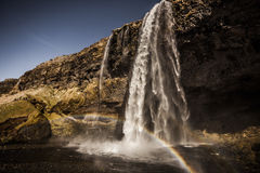 Seljalandsfoss Waterfall - Iceland Stock Images
