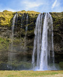 Seljalandsfoss waterfall Iceland Stock Image