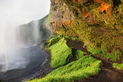 Seljalandsfoss Waterfall, Iceland Royalty Free Stock Image