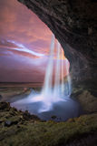 Seljalandsfoss Waterfall, iceland. Royalty Free Stock Image