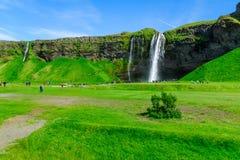 Seljalandsfoss waterfall, south Iceland Royalty Free Stock Images