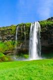 Seljalandsfoss waterfall, south Iceland Royalty Free Stock Photo