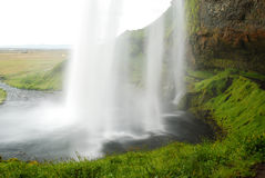 Seljalandsfoss waterfall in south of Iceland. View of a waterfall called Seljalandsfoss, near Hvollsvollur, south of Iceland stock photos