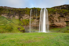 Seljalandsfoss waterfall,  South-West Iceland Royalty Free Stock Photos