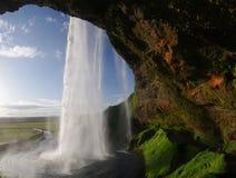 Seljalandsfoss watterfall on Iceland Stock Photos
