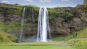 Seljalandsfosswatervallen in IJsland stock video