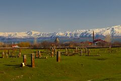 Free Seljuk Cemetery Of Ahlat, The Tombstones Of Medieval Islamic Notables. Stock Photography - 188863632