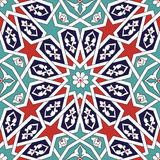 Seljuk geometrisk blom- design royaltyfri illustrationer