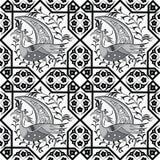 Seljuk style Iznik seamless pattern Royalty Free Stock Photo
