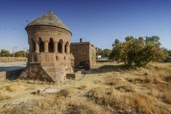 seljuks墓碑在阿赫拉特火鸡的 免版税库存图片