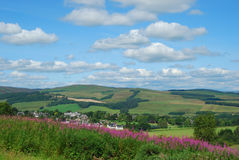 Selkirk and surrounding countryside Royalty Free Stock Photos