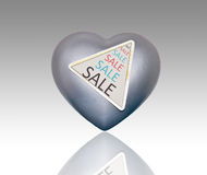 Sell heart. Royalty Free Stock Photography