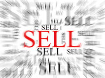 Sell background. With many words Royalty Free Stock Images