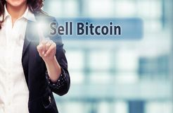 Sell Bitcoin royalty free stock images