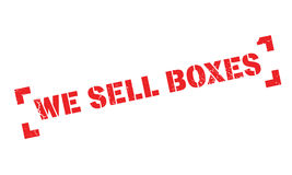 We Sell Boxes rubber stamp Royalty Free Stock Photography