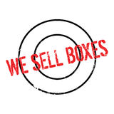 We Sell Boxes rubber stamp Royalty Free Stock Image