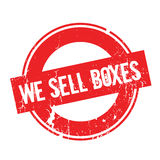 We Sell Boxes rubber stamp Stock Image