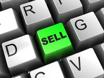 Sell button Stock Photo