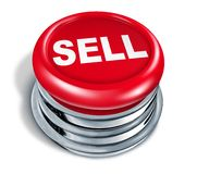 Sell Button isolated. On white background Stock Photos