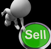 Sell Button Shows Sales Selling And Business Royalty Free Stock Photography