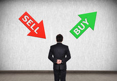 Sell and buy arrow Stock Images