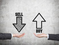 Sell and buy arrows Stock Photo