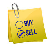 Sell or buy post Royalty Free Stock Photography